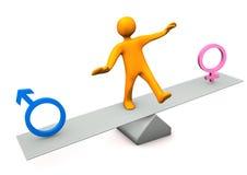 男女平衡 免版税库存图片