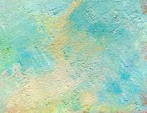 在画布的油画 Abctract明亮的背景 库存图片