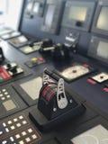 在画象的船桥甲板仪器 免版税库存图片