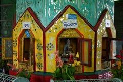 在登上Popa顶部的寺庙在曼德勒缅甸缅甸 库存图片