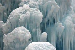 在白云岩的冰瀑布,特伦托自治省 库存照片