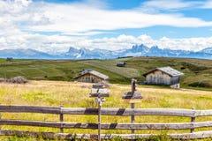 在白云岩的巨大看法在阿尔卑斯 库存照片
