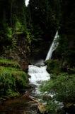 在白云岩的瀑布 免版税库存图片