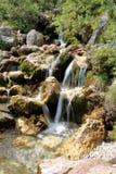 在白云岩的瀑布 库存图片
