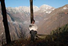 在白云岩Bellunesi 图库摄影