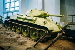 在白俄罗斯语的苏联俄国中型油箱T-34 库存照片