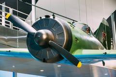 在白俄罗斯语Museu的二战苏联俄国战斗机I-16 免版税库存图片
