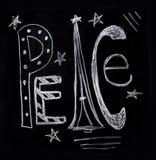 在白垩的和平 免版税库存照片
