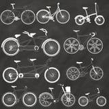 在白垩的自行车 免版税库存照片