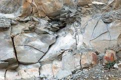 在白垩石头猎物的石头 免版税库存照片