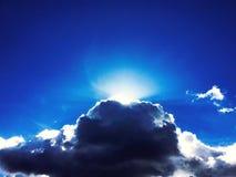 在白天的天空蔚蓝 库存图片