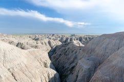 在白天的恶地国家公园谷 免版税库存照片