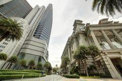 在白天的新加坡都市风景 免版税库存照片