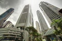 在白天的新加坡都市风景 免版税库存图片