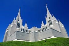 在白天,圣地亚哥摩门教堂 免版税图库摄影