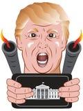 在白宫的放炮神探 向量例证