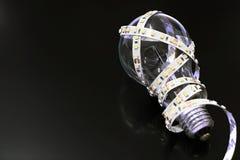 在白炽灯的LED小条 库存图片
