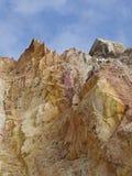在白矾海湾的峭壁 图库摄影