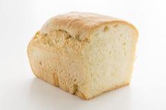 在白色上添面包 图库摄影