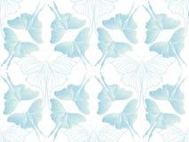 在白色传染媒介的珍珠绿色蝴蝶图案 皇族释放例证