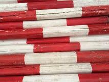 在白色和红色的木利益 库存图片