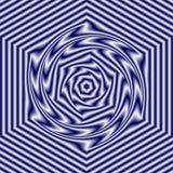 在白色和黑暗的藏青色或紫罗兰颜色的抽象几何样式,影响充满活力和冒充的驱动 免版税库存照片