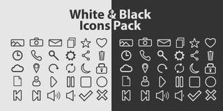 在白色和黑背景的概述象 库存照片