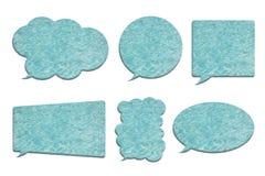 在白色在泡影讲话形状的游泳池隔绝的 免版税库存图片