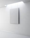 在白色墙壁上的空白的图片 3d 免版税库存照片