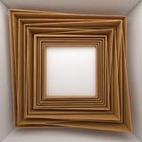 在白色墙壁上的空白的框架 图库摄影