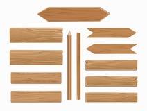 在白色收藏隔绝的传染媒介木板条 库存例证