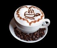在白色杯子的咖啡 库存图片