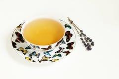 在白色杯子的热的茶 库存照片