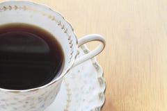 在白色杯的无奶咖啡 免版税库存图片