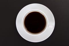 在白色杯的无奶咖啡 免版税库存照片
