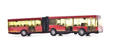 在白色查出的乘客公共汽车 图库摄影