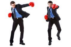 在白色查出的企业拳击 图库摄影