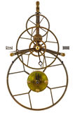 在白色查出的古色古香的概要时钟 库存图片