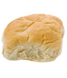 在白色查出的唯一新鲜的小圆面包。 免版税库存照片