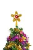 在白色查出的圣诞树装饰 图库摄影