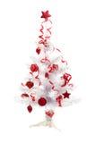 在白色查出的圣诞树 免版税图库摄影