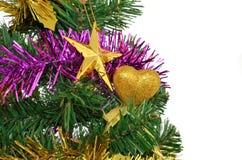 在白色查出的圣诞节装饰 免版税图库摄影