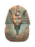 在白色查出的埃及法老王小雕象 免版税库存照片