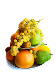 在白色查出的异乎寻常的果子的分类 库存照片