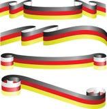 在白色查出的德国丝带 免版税库存照片