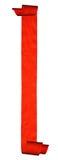 在白色查出的抽象红色丝带 免版税图库摄影