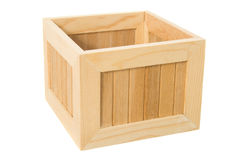 在白色查出的木箱 免版税库存照片