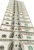 在白色查出的栈美国美元 免版税库存图片
