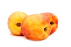 在白色查出的桃子 库存图片