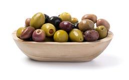在白色查出的橄榄 免版税库存照片